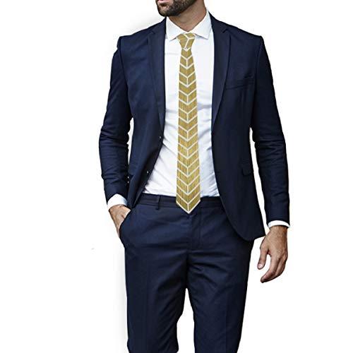 MONTOJ - Corbata de fondo dorado brillante para hombre, corbata ...