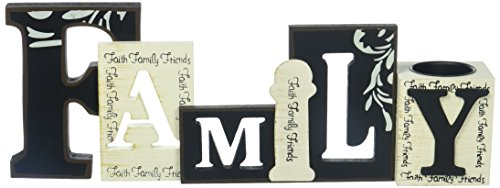 StealStreet Cutout Word Collectible Family with Tea Light Candle Holder by StealStreet