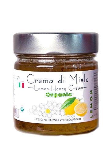 Price comparison product image Organic Lemon honey Cream Delicious Organic honey blended with Lemon paste 250 g - 8.81 oz