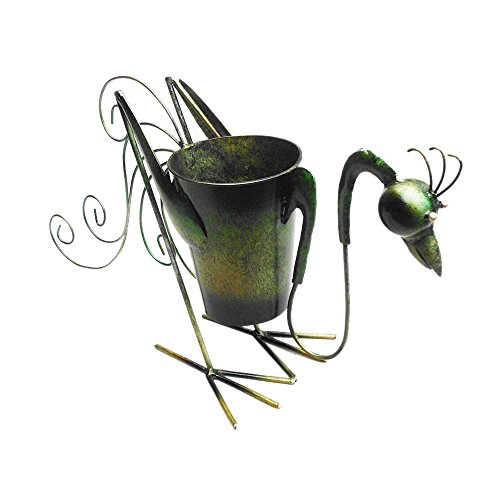 D-Art Collection Iron Planter Decor, Rooster -