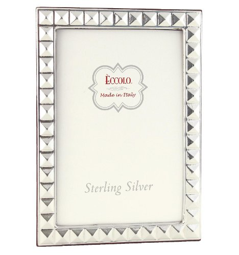 Eccolo Sterling Silver Frame, Holds 5 by 7-Inch Photo, Pyramid by Eccolo