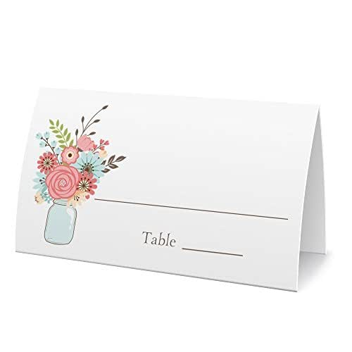 Amazon.com: Place Cards Or Escort Cards, Mason Jar With