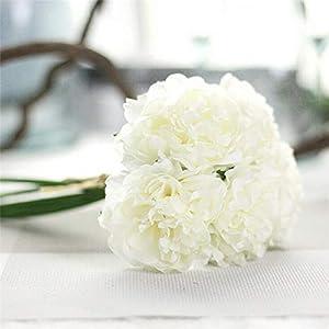 1 Bouquet 5 Heads Artificial Silk Fake Flowers Peony Floral Wedding Bouquet Bridal Hydrangea NEW Decor 4B11#F# F 34
