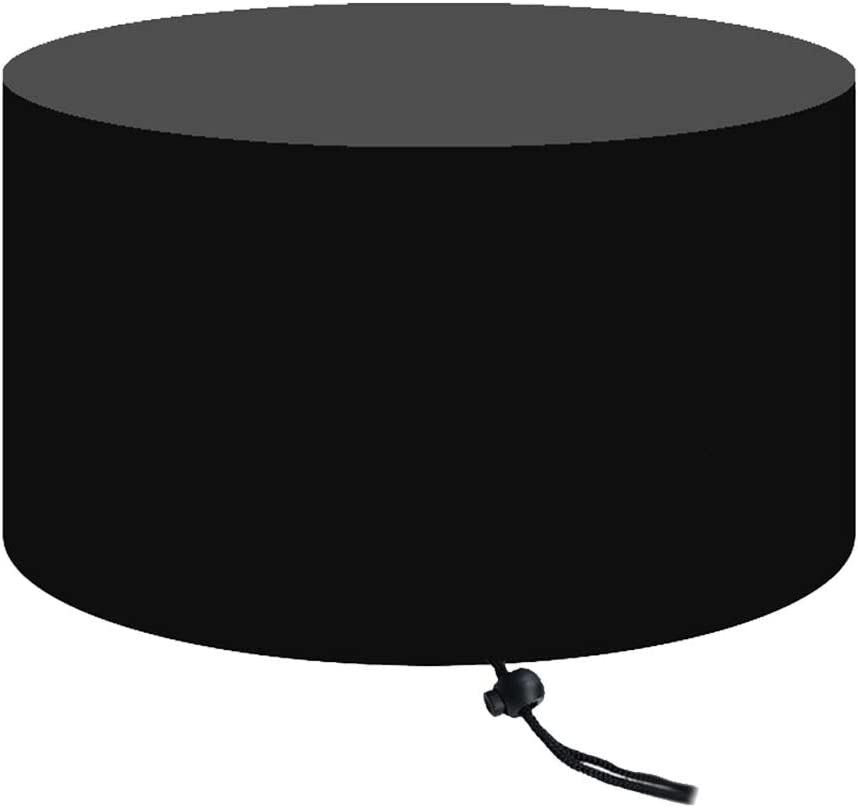 Outdoor Waterproof Windproof Oxford Cloth Round Fire Pit Cover Black SOONHUA Fire Pit Cover