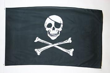 AZ FLAG Bandera Pirata Cabeza DE Muerte 150x90cm - Bandera con Calavera 90 x 150 cm poliéster Ligero: Amazon.es: Jardín