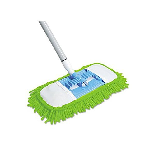 Quickie Microfiber Dust Mop (060) Green, 48 Inch Steel Handle, Each ( Handle May Vary ), 4-Pack by Quickie