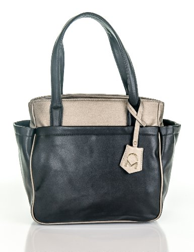 Noble Mount Berkeley Tote Handbag - Black/Gold
