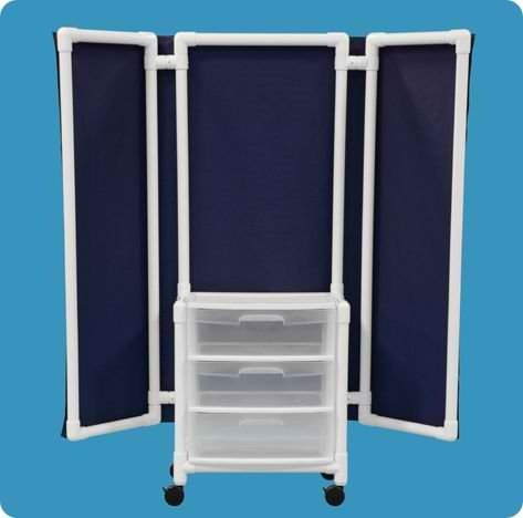 Privacy Screen with Drawers - WPS70WDM - Mint Cover