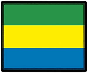 mousepad con diseño–Fútbol de fútbol Bandera de Gabón–Zapatillas 82052–Talla aprox. 24x 20cm