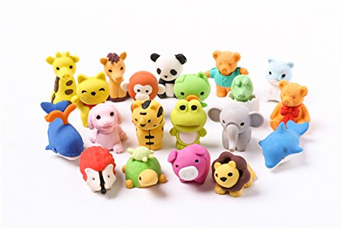 Lsushine Collectible Adorable Animals Erasers product image
