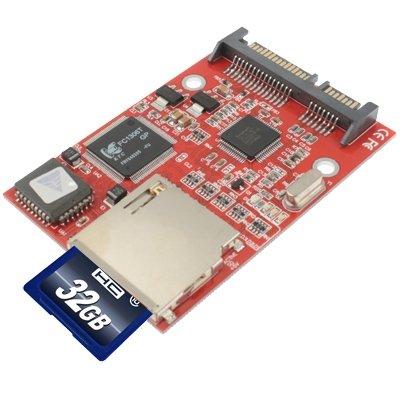 Alta calidad Adaptador de tarjeta SDHC/SD a SATA (rojo): Amazon.es ...