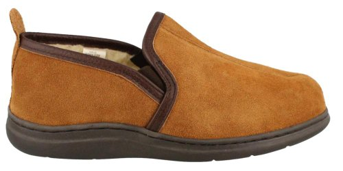 L.B. Evans Men's Klondike Slipper,Saddle,15 M by L.B. Evans