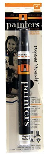 Elmer's Painters Opaque Paint Marker, Medium Tip, Black (7327) (2-Pack) -