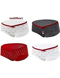 b8dad7556 4Pcs lot Plus Size Women s Maternity Cotton Underwear Belly Support