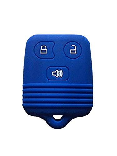 KAWIHEN Silicone Key Fob Cover Case Protector Smart Remote Control Shell Keyless Entry Case Holder Cover For Ford Lincoln Mercury Mazda CWTWB1U331 GQ43VT11T CWTWB1U345 8L3Z15K601B 8L-3Z-15K-601B