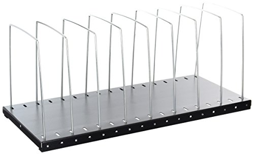 Buddy Products 8 Section Wire Organizer, 8 x 7.75 x 18.5 Inches, Black (0710-4)
