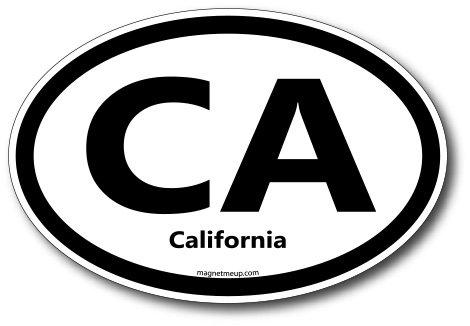 CA California Car Magnet US State Oval Refrigerator Locker SUV Heavy Duty Waterproof…