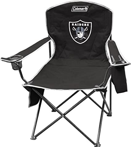 Amazon.com: Oakland Raiders XL Cooler Quad Chair: Sports ...