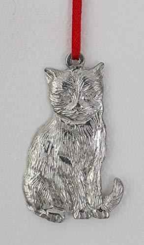 745 Cat Kitten Ornament Pewter