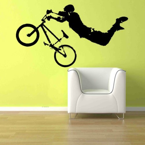 Cheap  Giant BMX Bike Bicycle Kid Teen Room Wall Art Removable Home Decor..