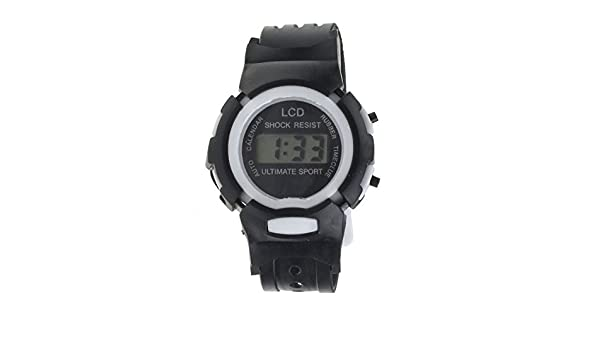 Lomelomme Mirar Niño Boys Girls Student Time Sport Electronic LCD Digital Reloj de pulsera Negro Reloj infantil Fiesta Regalo Los deportes Impermeable ...