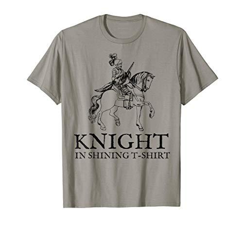 Knight in Shining Armor Tshirt Halloween Renaissance Fair -