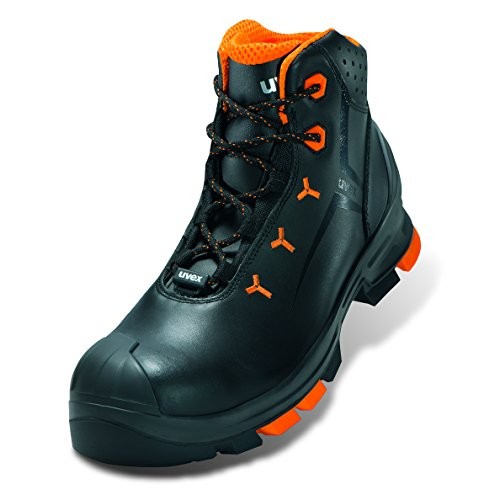 """UVEX de seguridad """" UVEX 5,08 cm S2 sin metal; Al aire libre-sole; Muy ligero; Material superior: cuero; La mitad de zapatos o botas; Caballos gr., Gris Stiefel"""