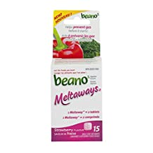 Beano Meltaways Food Enzyme Dietary Supplement, 15-Count
