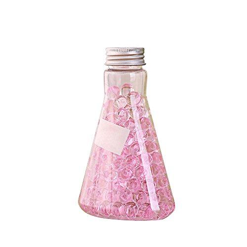 HOBOYER Air Freshener Crystal Beads,Solid Rose Scented Gel Beads Air Freshener for Toilet Bathroom Car Air ()