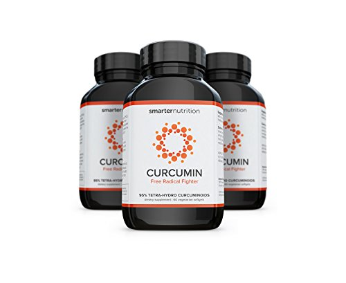 Smarter Curcumin - Potency and Absorption in a SoftGel. 95% Tetra-Hydro Curcuminoids. The Most Active Form of Curcuminoid found in the Turmeric Root (3 Month Supply) by Smarter Nutrition