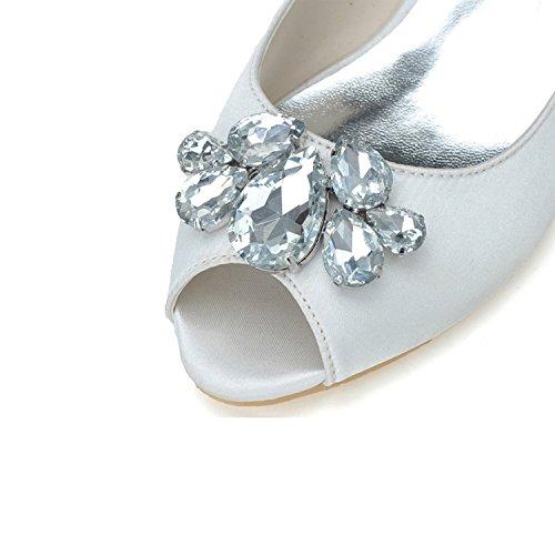 Pumps Peep Hochzeit Kleid Toe Frauen Qingchunhuangtang Heel Abend Pumps High awqpxRn54