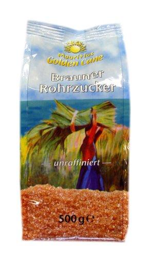 Golden Cane Brauner Rohrzucker, 6er Pack (6 x 500 g Packung)