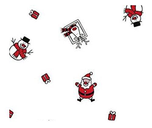 5m x 80cm Roll Christmas Cellophane Wrap (Santa, snowman & reindeer). Florist Quality Bouquet / Gift / Hamper / Basket Wrapping M&A SP44429