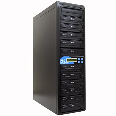 Produplicator 1 to 11 24X CD DVD Duplicator Copier (M-Disc Support Burner) with Nero Essentials CD/DVD Burning Software (Standalone Duplication (Ideal Dvd Copy)
