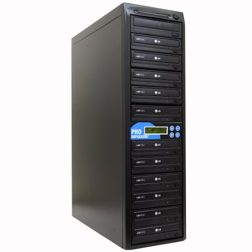 Produplicator 1 to 11 24X Burner M-Disc Support CD DVD Duplicator - Standalone Copier Duplication Tower