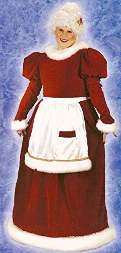 Santa Claus And Mrs Claus Costumes (Mrs. Santa Claus Velvet Plus Size Christmas Costume 16W-24W)
