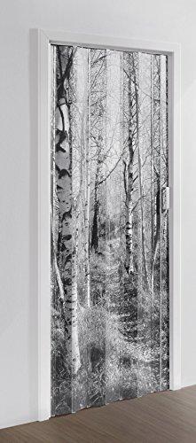 Falttür MARLEY Black & White ohne Fenster B 85 x H 197 cm Motiv Forest