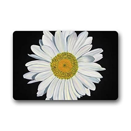 Custom Daisy Flower Door Mats Cover Non Slip Machine Washable Outdoor  Indoor Bathroom Kitchen Decor