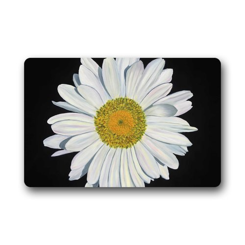 Daisy Kitchen Decor: Custom Daisy Flower Door Mats Cover Non-Slip Machine