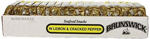 BRUNSWICK Boneless Herring Fillet Seafood Snacks, Lemon and Cracked Pepper, 3.53 Ounce Can (Pack of 18), High Protein Food, Keto Food and Snacks, Gluten Free Food, High Protein Snacks, Canned Food