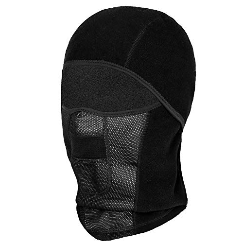 C-Gardian Ski Face Mask, Windproof Men Women Warm Hood Ski Mask for Cold Weather Winter Balaclava Thermal Fleece Fabric Mask with Breathable Vents for Ski Motorcycle Snowboard Cycling