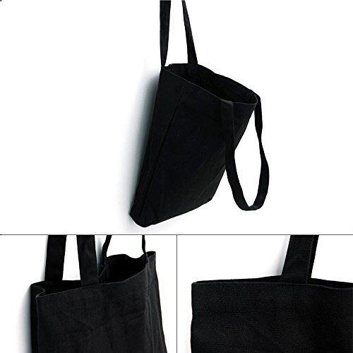 bolsa lona de tela Moderno de nbsp;Bolso y A asaps lona hombro nbsp;– bolso bolso bolsa lona Black con impresión A lona kennzeichnende black Iwxpx8TqX