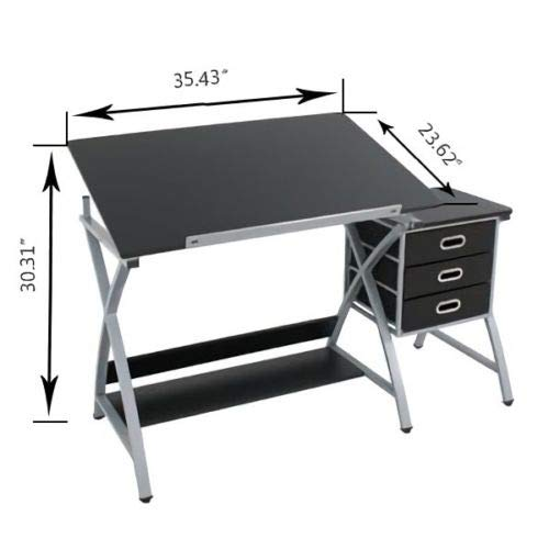 Selva Adjustable Drafting Drawing Painting Table Desk w/Drawer for Art Sketch Hobby Home Craft | Easy Grip Knobs Ergonomic Adjust Angle Comfort Heavy Duty | for Creative Artist Students Illustrators by Selva (Image #5)