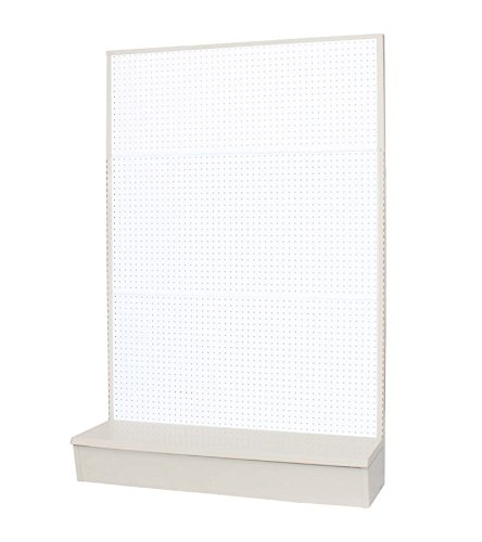 Vulcan Industries, 1003654-00U0019, Economy Retail Gondola, Single Sided Pegboard, 36''W x 14''D x 54''H, Durable Almond Powder Coated Steel, Accepts Shelves and Pegs
