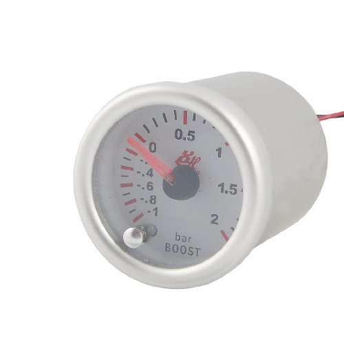 'Car 2 Diameter Turbo Boost Pointed Display Vacuum Gauge: