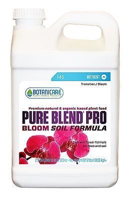 Botanicare PURE BLEND PRO Bloom Soil Nutrient 1-4-5 Formula, 2.5-Gallon