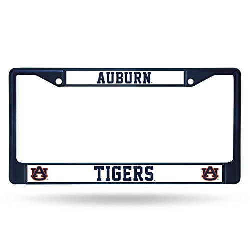 Rico Industries NCAA Auburn Tigers Team Colored Chrome License Plate Frame, Navy ()