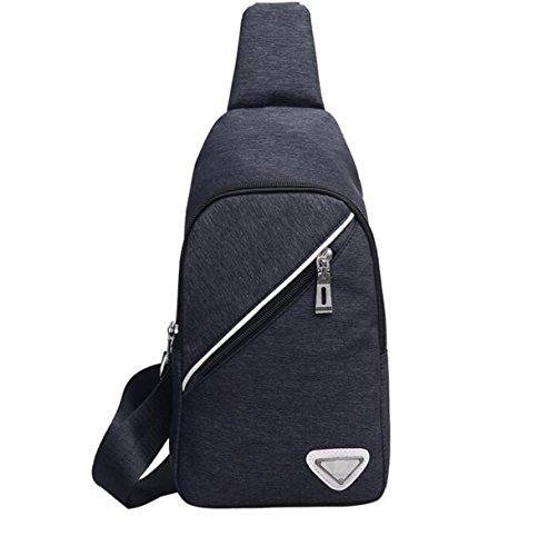 La Pechera Crossbody Unisex Conveniente Salvaje Ligera Calidad De Nylon Bolso De La Honda Black2