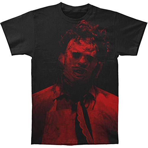 Impact Texas Chainsaw Massacre Leatherface Big Print Subway tee,Black,XX-Large (Best Of Texas Band)