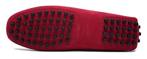 Loafers 1rojo Conducción Gamuza Mocasines Pisos Hombres Zapatillas Casual Zapatos De Eagsouni® Cq1pXnxwC